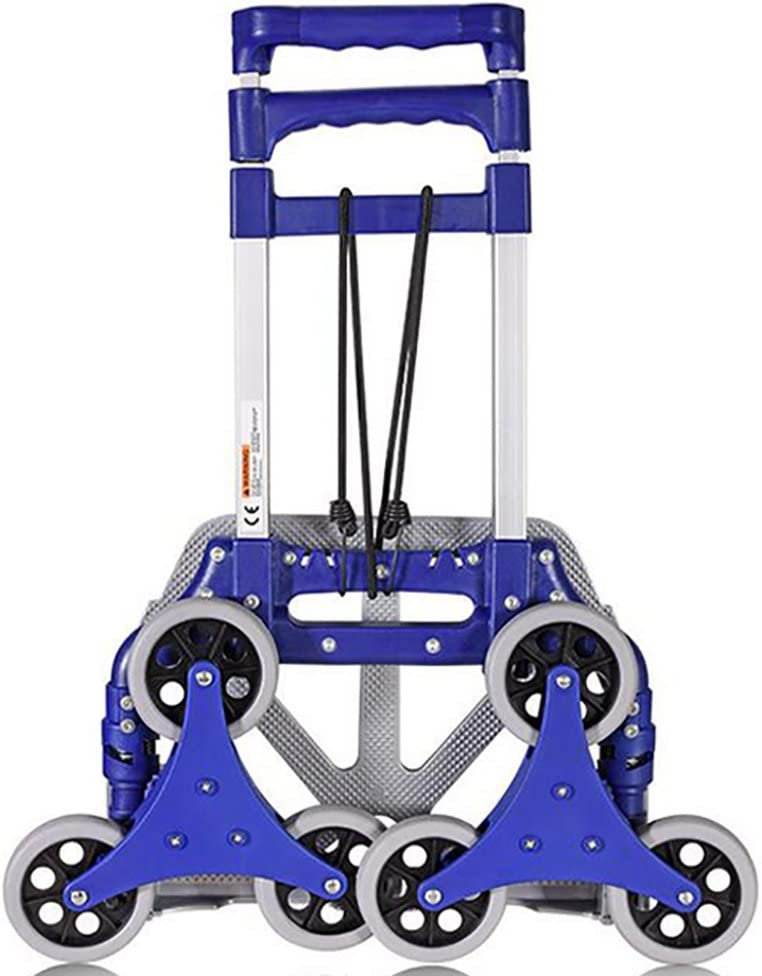 FKDECHE Blue Shopping cart Trolley Multifunctional Load 40 kg Aluminum Alloy Folding Portable for Household Groceries Shopping