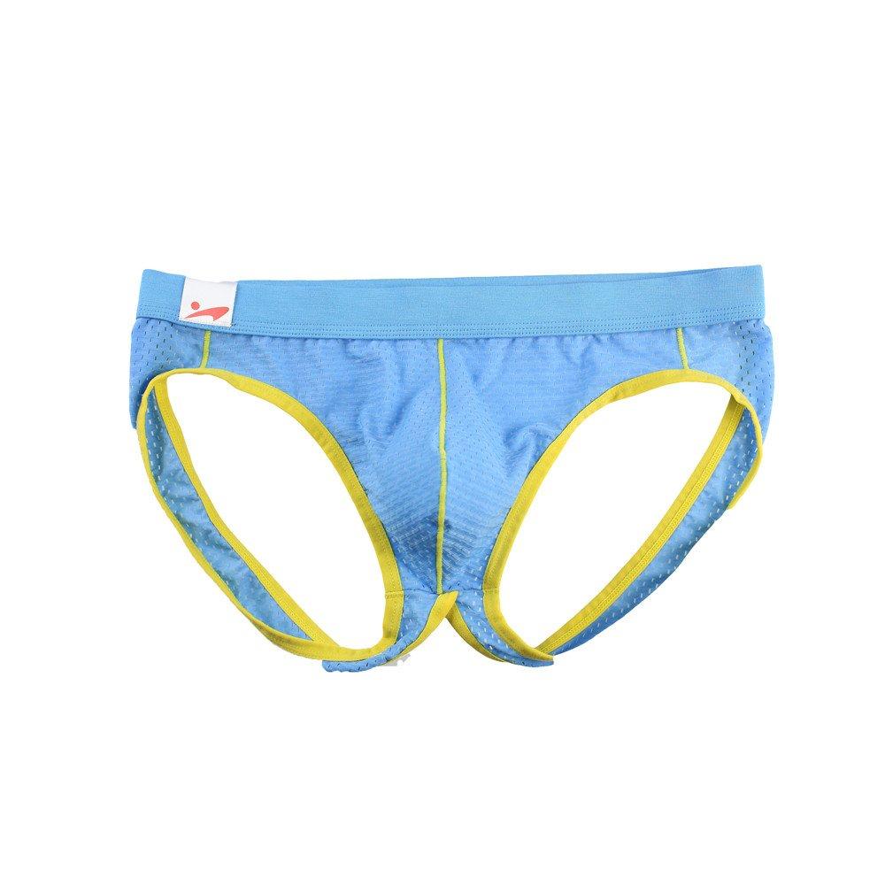 ANJUNIE Mens Big Pouch Thong Underwear Soft Low Rise T-Back Panties Soft Underpants Shorts