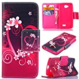 For LG Optimus F60,LG Case,F60 Case,LG Optimus F60 Case,LG Optimus F60 Cases,F60 Leather,LG Optimus F60 Wallet Case,Candywe Book Style Flip Leather Case With Stand Function For LG Optimus F60 For Boys For Girls 021