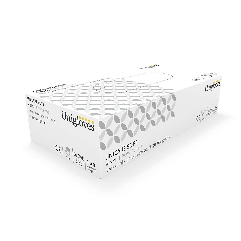 Medium Unigloves 1823A Vinyl-Handschuhe gepudert 100 St/ück