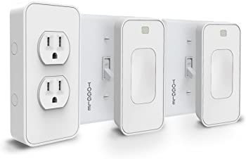 SwitchMate Dual Outlet Smart Toggle Light Switch and Power Set