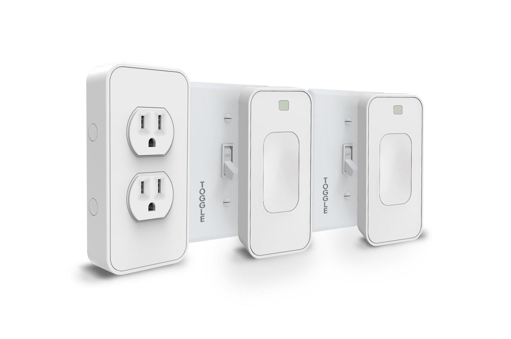 Switchmate Snap-On Smart Light Switch and Instant Smart Power Outlet That Listen - SKLPP00T7 Toggle Kit