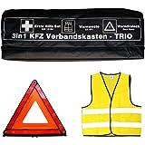 VOITURE-trousse de secours 3 en 1 trio poussette avec gilet de signalisation, kit de premiers secours et de signalisation