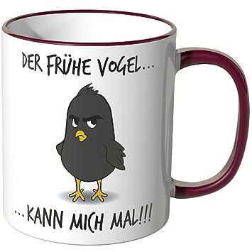 Der frühe Vogel kann mich mal Tasse Grösse Ø8,5 H9,5cm