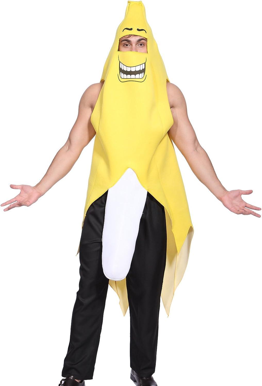 Maboobie - Disfraz de plátano salido para adulto Disfraz Banana ...