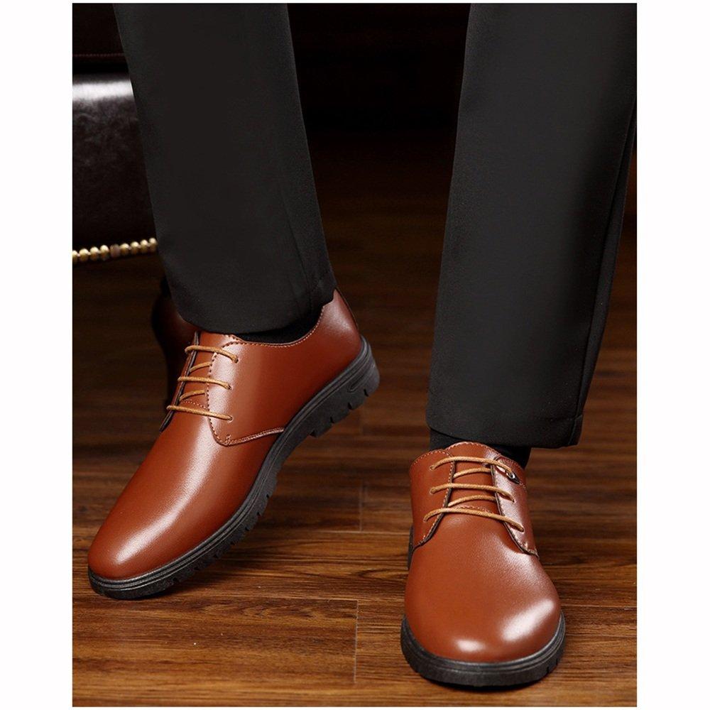 XIAOLIN- Flut Schuhe Neu Männer England Geschäft Kleid Schwarz Lederschuhe ( Farbe : Braun , größe : EU43/UK9/CN44 )