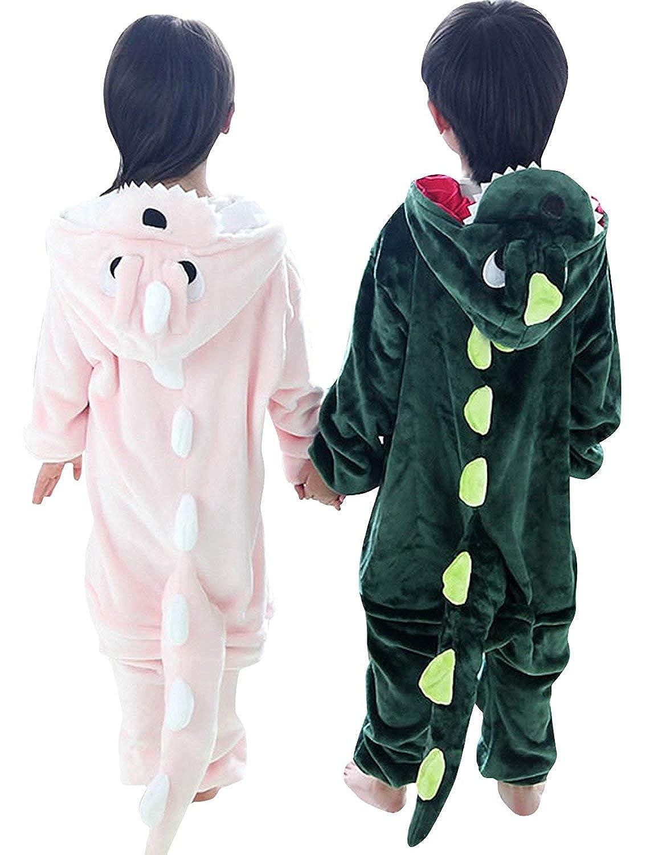 Kids Dinosaur Costumes Pajamas Dragon Onesie Children One-Piece Jumpsuit Sleepsuits for Boys Girls
