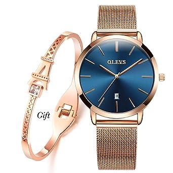 Amazon.com: OLEVS - Reloj de pulsera para mujer, clásico ...