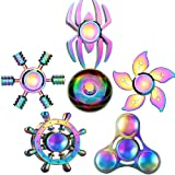 Rainwbow Snitch Fidget Fingers Hand Spinners Metal Focus Decompression Fidgets Toy Stainless Steel Fingertip Gyro Stress…