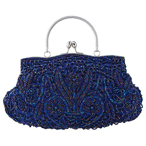 Bagood Women's Vintage Style Beaded Sequined Evening Bag Wedding Party Handbag Clutch Purs by Bagood