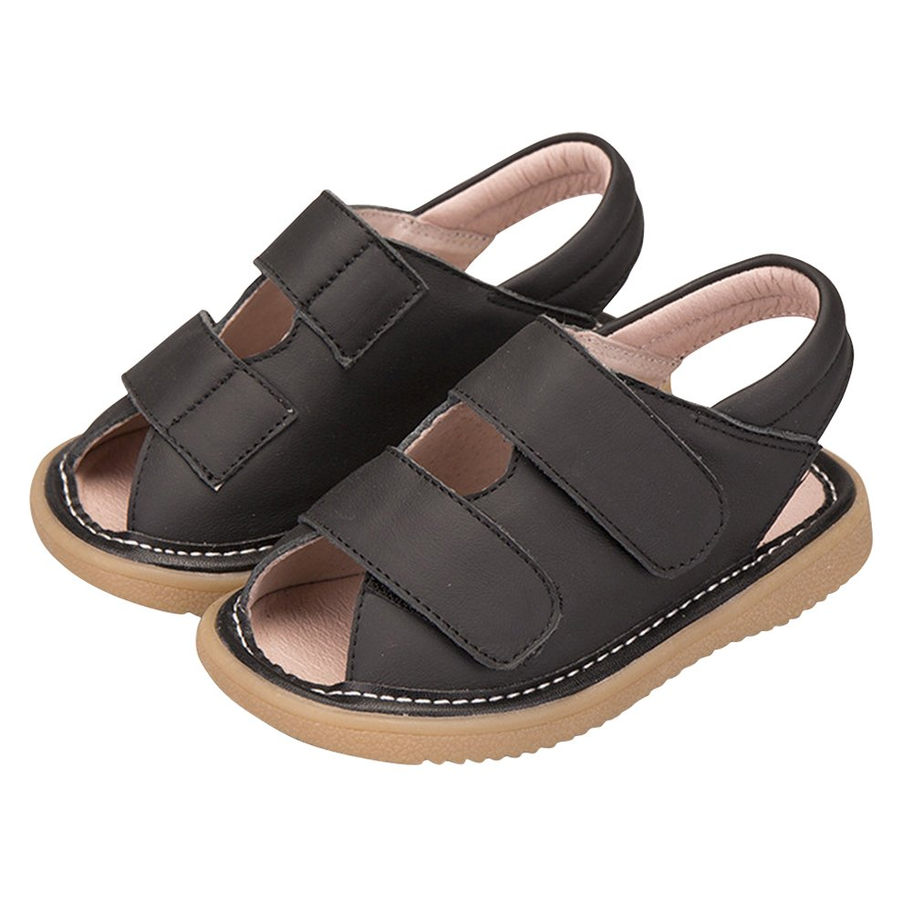 Tortor 1Bacha Baby Kid Girls Two-Strap Leather Sandals Squeaky Shoes Toddler