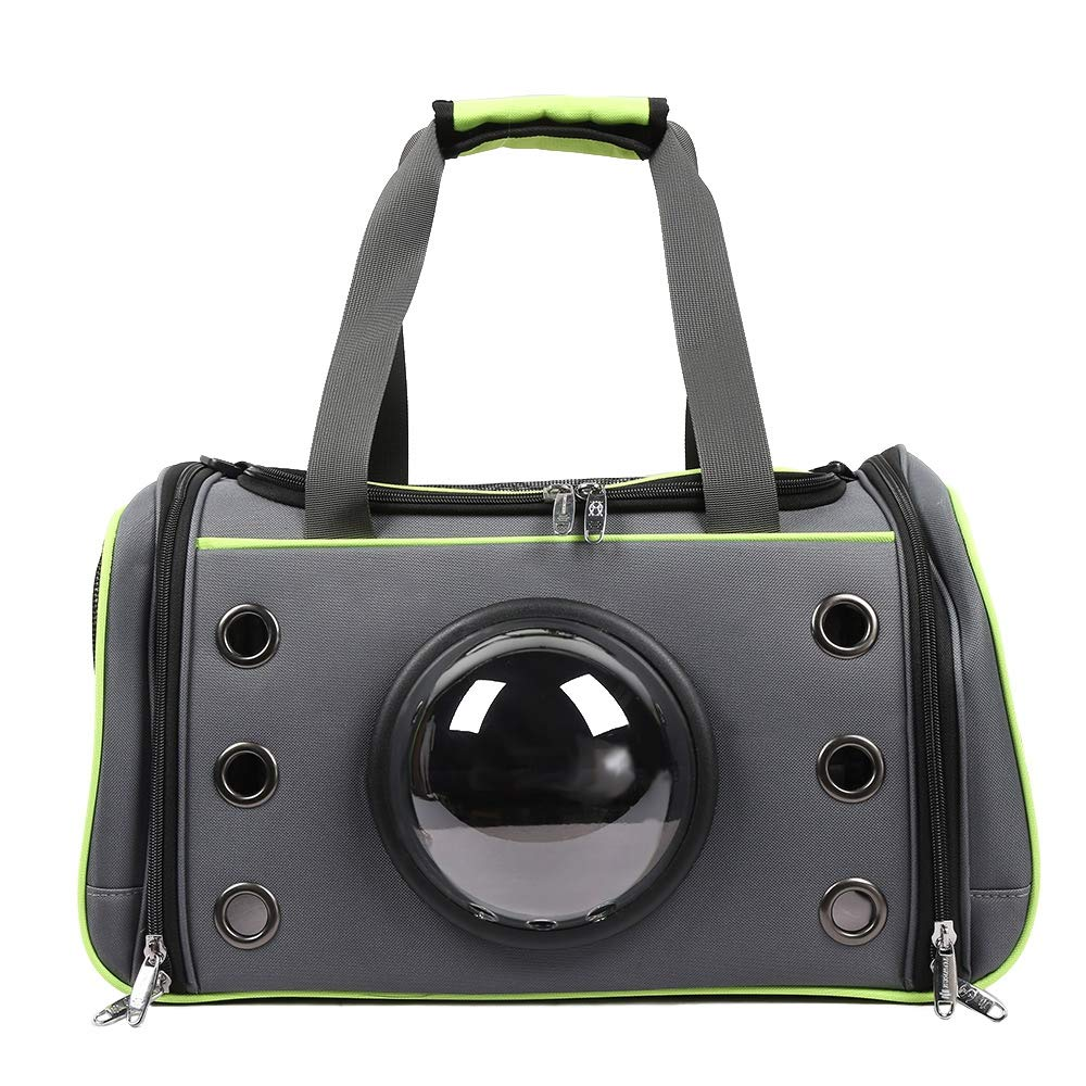 TEA Green Large TEA Green Large Pet Carrier Space Capsule Backpack for Small Dog Cat  Puppy Breathable with Ventilation Holes (Large, Tea Green)