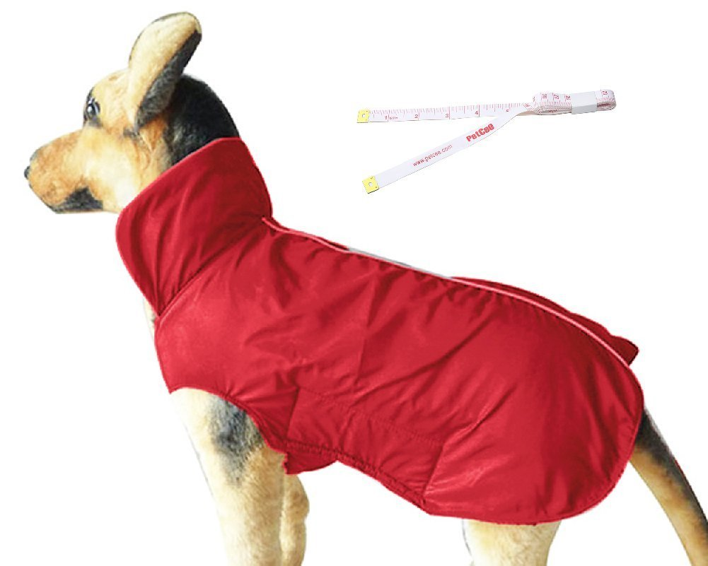 Red 4XL Red 4XL PETCEE Waterproof Dog Jacket, Soft Fleece Lined Dog Coat for Winter, Outdoor Sports Pet Vest Snowsuit Apparel Double Surface