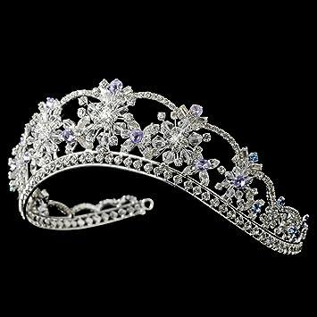 bd161e72a Amazon.com : Nicole Swarovski Crystal Light Blue & Amethyst Wedding ...