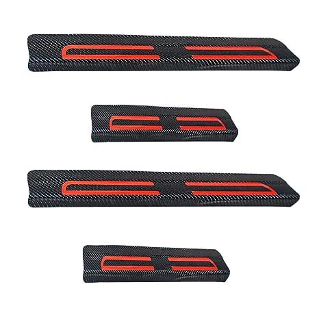 Decoración del coche Scuff Plate Door Sill 4d de fibra de carbono adhesivo coche accesorios para