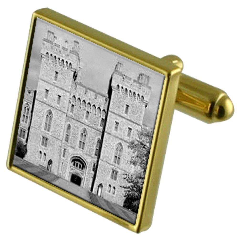 Castillo de Windsor Tono Oro Gemelos Crystal Gift Set Clip de ...