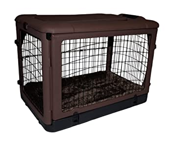 Genial Pet Gear The Other Door Steel Crate With Fleece Pad For Cats And Dogs Up To