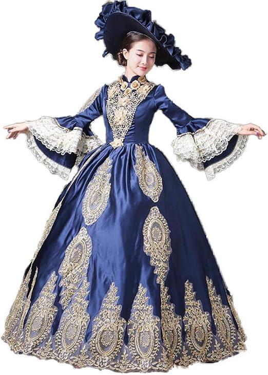 QJXSAN Damas de la Corte del Vestido de Noche Elegante de la ...