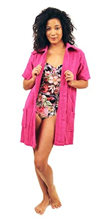 1009262716 NDK New York Women's Terry Cloth Swimsuit Cover Up (100% Cotton) at Amazon  Women's Clothing store: