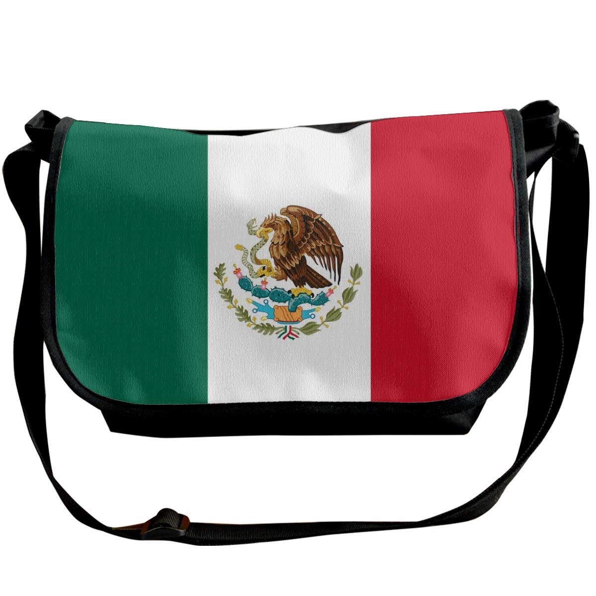 Adjustable Shoulder Strap Messenger Bag Mexican Flag Unisex Backpack Shoulder Crossbody Bag