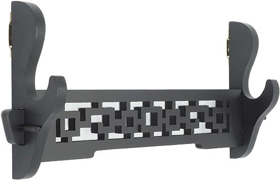 staffa di supporto con motivo cavo Supporto da parete per spada Katana da samurai supporto per esposizione di spada Wakizashi Genji