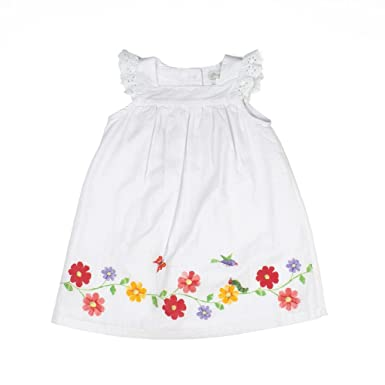 Amazon carriage boutique baby girl white dress spring flowers carriage boutique baby girl white dress spring flowers butterfly bird 2t mightylinksfo
