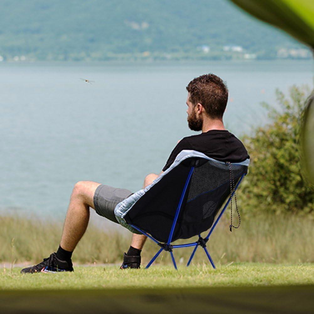 Diswoe Silla de Camping Plegable con Bolsa Plegable y port/átil Carga hasta 240 LB,Ideal para acambaca//Senderismo//Viaje//Caza//Pesca Transpirable Playa Jard/ín Camping Picnic Aire Libre Pesca