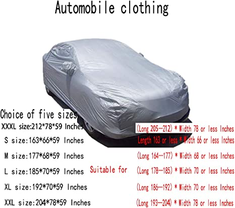 z-snowman Car Cover Waterproof All Weather for Automobiles Universal Fit for Sedan 2087859 inches