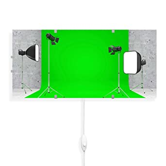 Greenscreen Beleuchtung | Banjado Glas Wandleuchte Wandlampe 56cm X 26cm Design Led Leuchte