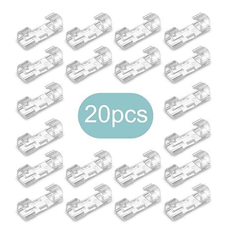 TiooDre - Abrazaderas de cable organizador de cables para sujetar sujetadores y organizadores de escritorio de