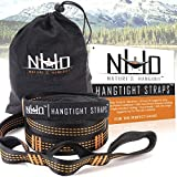 Hammock Tree Straps - Extra Strong, Long, Heavy Duty & Lightweight With Adjustable Loops. No Stretch Polyester. Best Gear Accessory For A Fast & Easy Hanging Setup Without The Hassle Of Rope & Knots