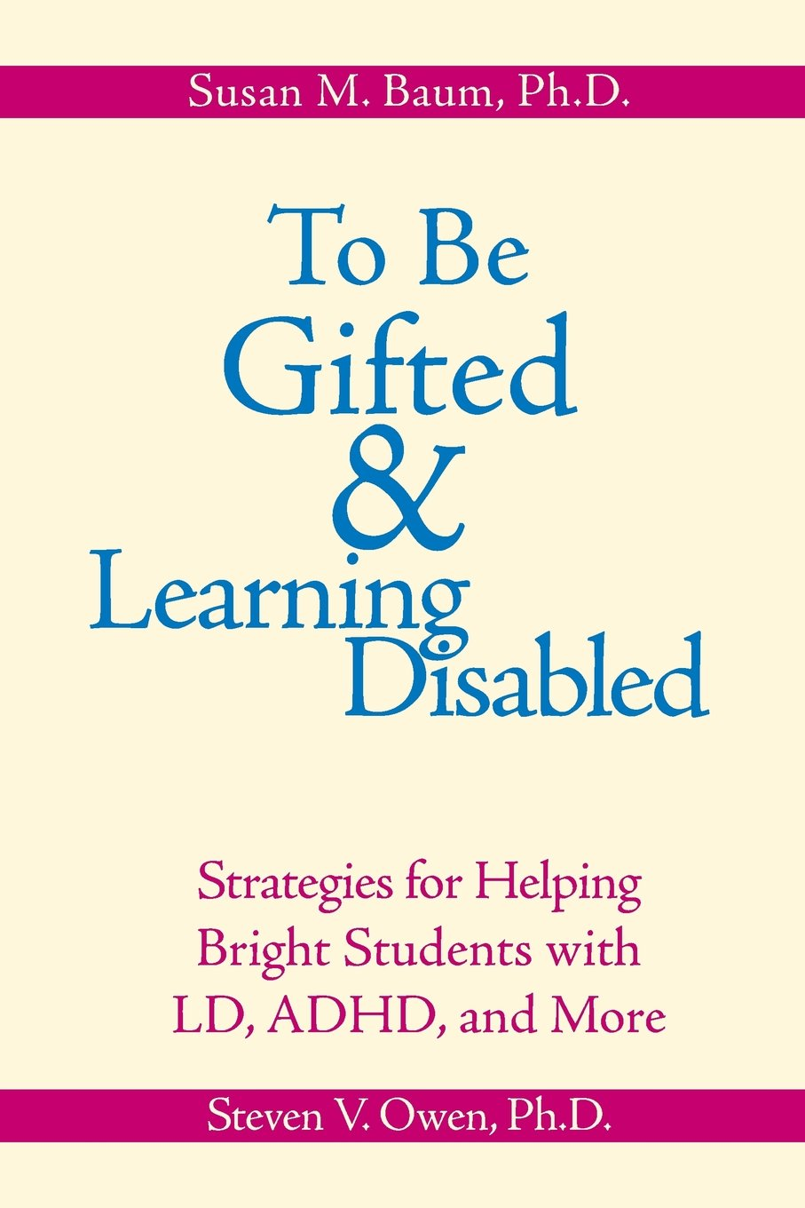 To Be Gifted And Learning Disabled Strategies For Helping Bright
