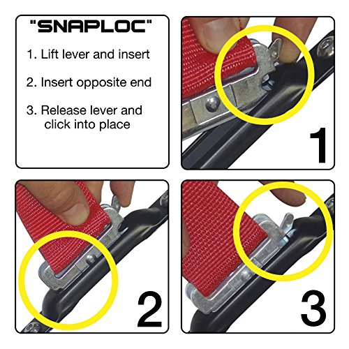 SNAPLOCS E-STRAP 2''x8' CAM (USA!) with Hook & Loop storage fastener by Snap-Loc (Image #3)