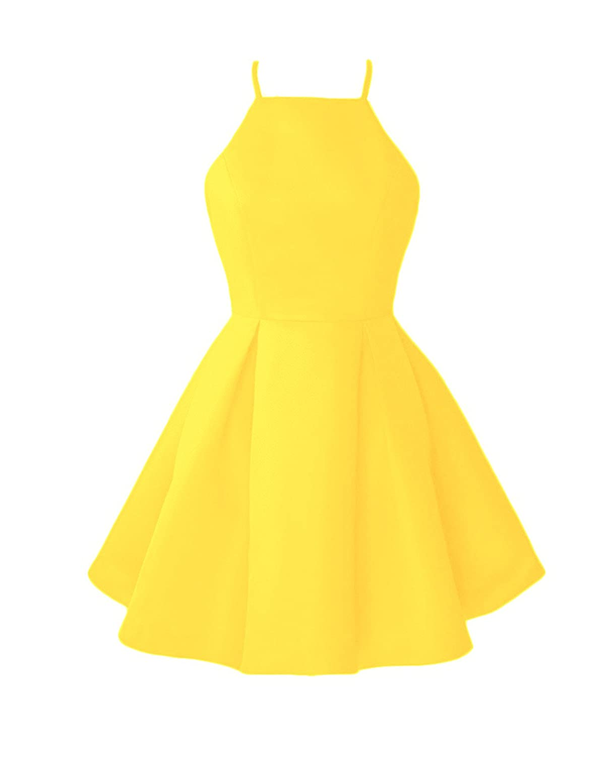 Byellow WHZZ Womens ALine Homecoming Dresses Mini Short Cocktail Party Dresses