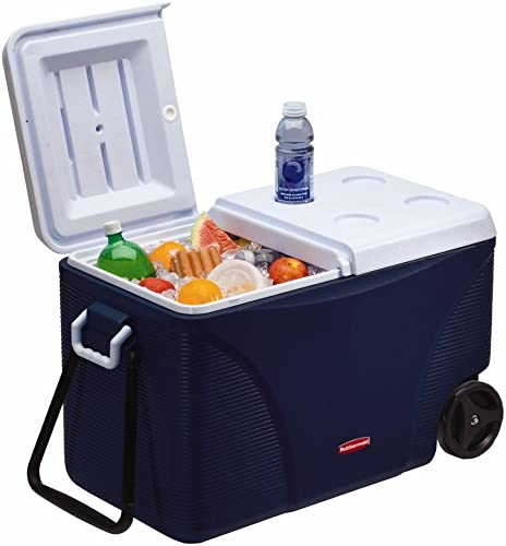 Rubbermaid 1836574 DuraChill Wheeled 5-Day Cooler, 75 Quarts