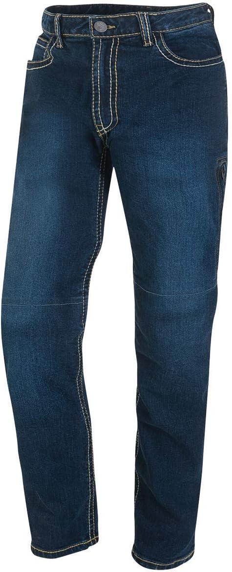 Germot Herren Motorrad Jeans Jason Herausnehmbare Knie Protektoren Slim Fit Blau Gr 40 32 Auto
