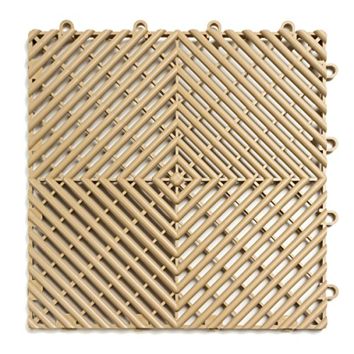 Cheap  RaceDeck Free-Flow Open Rib Design, Durable Interlocking Modular Garage Flooring Tile (12..