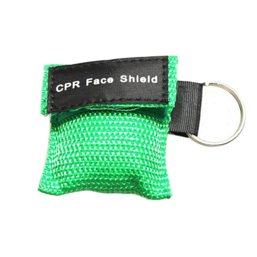 First Aid Resuscitation Face Mask Shield Key-ring Mouth to Mouth Key Ring Pouch