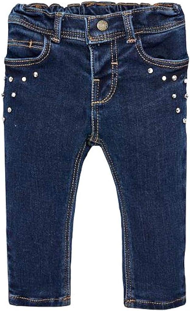 Mayoral Pantalone Jeans Morbido in Felpa Bimba Blu