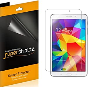 (3 Pack) Supershieldz for Samsung Galaxy Tab 4 8.0 inch Screen Protector, High Definition Clear Shield (PET)