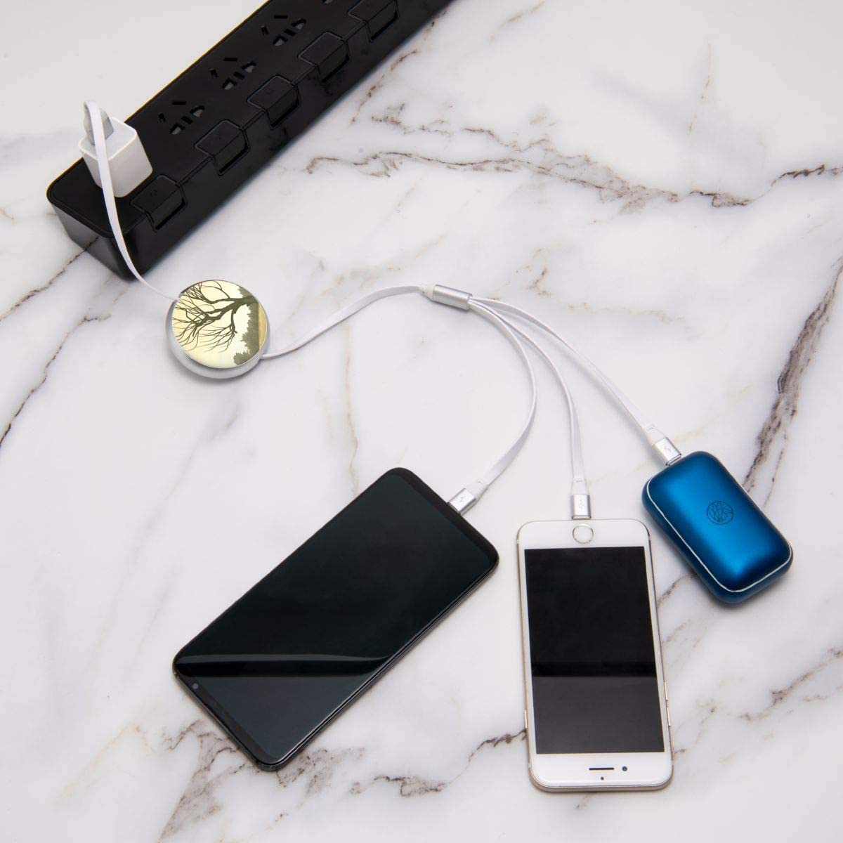 Type C Connectors Lighthouse Illustration Multi Charging Cable 3 in 1 Multiple USB Charge Cable Micro USB