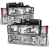 For Chevy C/K 1500/2500/3500 Tahoe Suburban Silverado Full Size C10 Headlights Driver/Passenger Headlamp