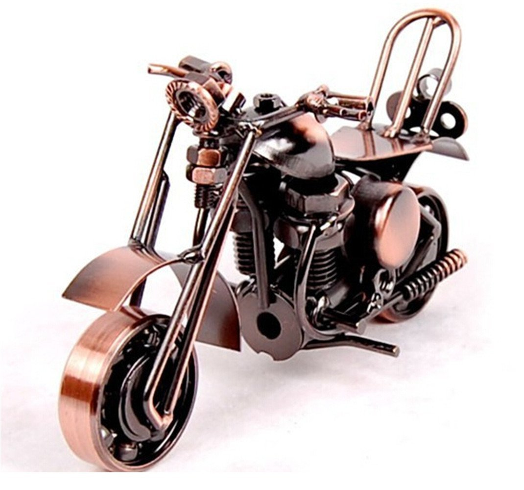 MYTANG Creative Office Desktop Accessories Harley Davidson Metal Motorcycle Model Artwork (m37-Copper) by MYTANG
