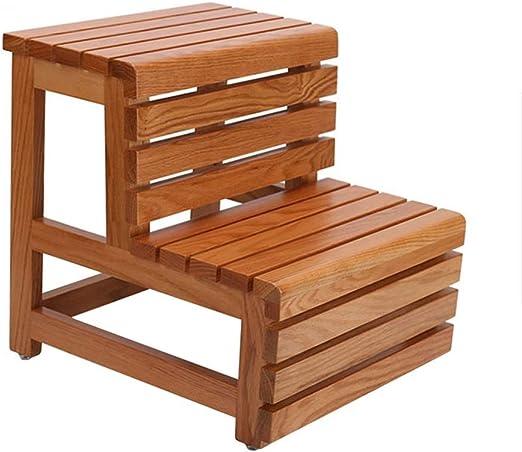 Escaleras Escalerillas Escalera de Madera escalón Taburete 2 Pasos, multifunción doméstico para niños Adultos para baño Hogar Biblioteca: 150 kg de Capacidad (42 × 46 × 45 cm): Amazon.es: Hogar
