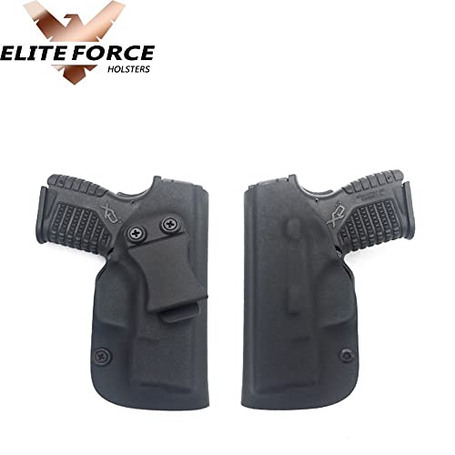 RUGER AMERICAN 9MM FULL SIZE GUN HOLSTER KYDEX IWB BLACK~~DUAL SIDED SWEAT  SHIELD~~