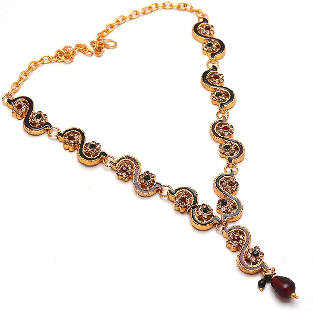 Amazon Com Indian Designer Kundan Ad Party Jewelry Pearl Necklace Set With Out Earrings Jewelry