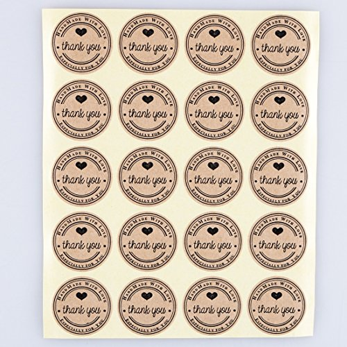 1000 1 hand made kraft paper gift cookies label sticker suppliers wholesale and custom label