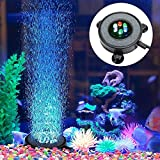 Multi-Colored LED Aquarium Air Bubble Light Fish Tank Air Curtain Bubble Stone Disk with 6 Color Changing