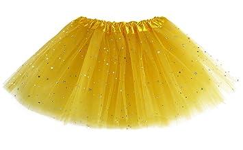 MIOIM Vestido de Fiesta de la Princesa Tutu Falda Lentejuela Estrella Gasa con Brillos de Ballet