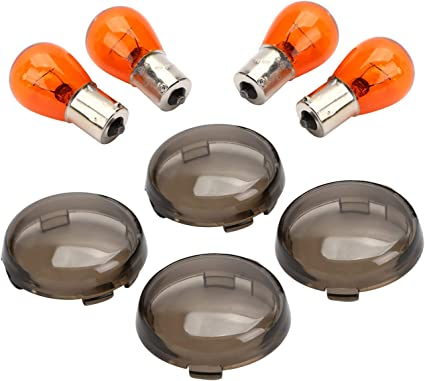 Bulbs For Harley Softail Dyna Sportsters 2002-2013 T Smoked Turn Signal Lenses